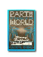 JIMMY BUFFETT PARTY AT THE END OF WORLD AUTHENTIC VINYL BACKSTAGE CONCERT PASS