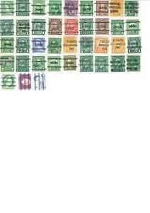 Canada Precancels (39 stamps)