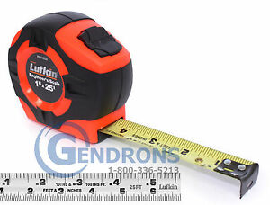 25' LUFKIN PHV1425DN 10TH/INCH TAPE MEASURE,SURVEYING,ENGINEERING,TOPCON,SOKKIA