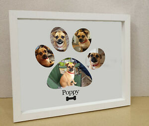 Dog lovers gift pet frame Personalised printed photo framed