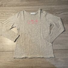 Arsene Et Les Pipelettes Girls Tee Shirt Long Sleeves Size 6 Grey Pink