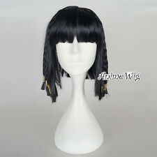 UK SELLER Braid Style Princess Cleopatra Wig Egyptian Fancy Dress Black Hair