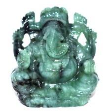 Lord Ganesha In Natural Emerald - 395 carats