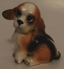 Josef Originals Beagle Figurine Dog Brown White Whimsical with Label 2.75""