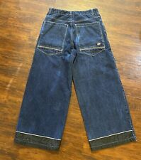 Breakdown Blue Cargo Baggy Wide Leg Pants 34x30 Jeans Jnco Tripp Skater Rave