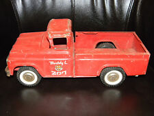 Vintage Buddy L Traveling Zoo Truck  - 1960's  Rare red metal Vintage