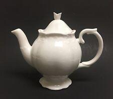 NEW GRACE'S TEAWARE WHITE CERAMIC,LACES,TEA,COFFEE POT,TEAPOT 5.5 CUPS