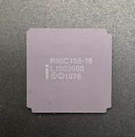 Intel R80C186-16 CPU Ceramic LCC68 16MHz 186 Processor 16Bit 80186 CMOS