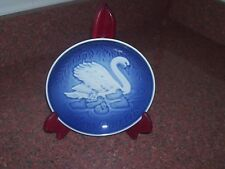 B&G MOTHER'S DAY PLATE 1976 SWAN  BLUE WHITE