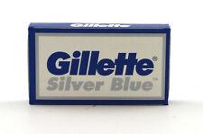 Gillette Silver Blue Double Edge Razor Blades- 75 Blades - Made in Russia