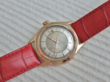 Vintage Swiss Doxa automatic watch, 18K solid rose gold, running