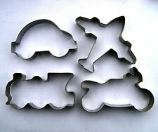 Vehicle Cookie Cutter Train Motorcycle Car Fondant Baking Biscuit Steel Mold Set