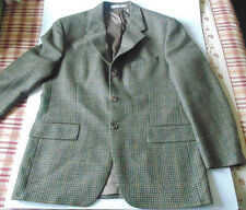 Chaps Ralph Lauren blazer 42 r virgin wool plaid and check 3 buttons vintage vtg