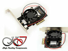 Carte Controleur PCIe pour SSD M.2 PCIe + Ventilateur - Compatible M2 3.0 NVMe