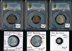 6 OLD BRITISH COINS (1708-1902) CAT VALUE $815 USD> BEAUTIES > NO RESERVE