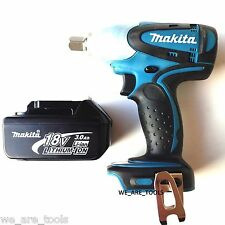 "New Makita 18 Volt XWT05 ½"" Cordless Impact Wrench, (1) BL1830 Battery 18V LXT"