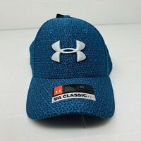 Under Armour UA Classic Fit Blitzing 3.0 Fitted Mens Hat Cap Teal Size M/L - $25