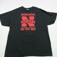 Nebraska Cornhuskers Short Sleeve XL Black Football Athletics Go Big Red