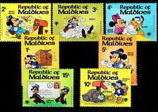Einsteckkarte m. Postfrischen DISNEY-Marken aus d.  ** REPUBLIC of MALEDIVES  **