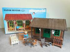 Playmobil western vintage 3427 Maison du fermier en boîte - 3422 3428 3430 3431