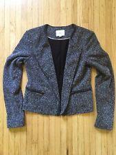 Loft Women's Textured Zip-up Cardigan. Sz 2 Black/white $79.99 Excellent