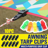 10x Reusable Tent Tarp Tarpaulin Clip Clamp Buckle Tool Heavy bara