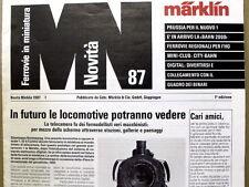 Catalogo Marklin novità News 1987 - Italiano   [G99A]