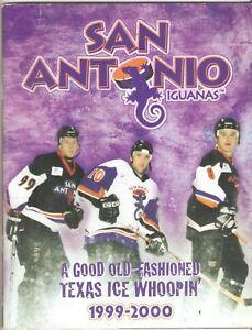 San Antonio Iguanas 1999 - 2000 Season Program Hockey Cheerleaders Autographs