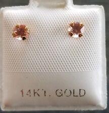 .41 TCW Rhodochrosite Earrings in 14kt Gold