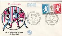ENVELOPPE 1 er jour timbrée FOOTBALL coupe de france 60° anniversaire