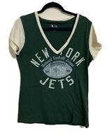 New York Jets Women's Burn Out T Shirt Sz Extra Large Nfl Team Apparel Football