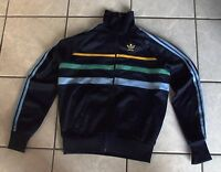 Veste survetement Vintage ADIDAS Ventex Marine années 80 First Jacket - 168 / S