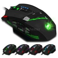 Wired Game Mouse Adjustable 4000DPI LED 12 Programmable Button Optical Mice B9K0
