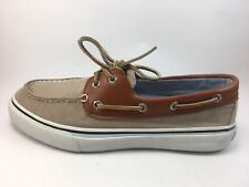 SPERRY Top-Sider Bahama 2 Eye Chambray Chino Boat  Shoe Size 9.5 M
