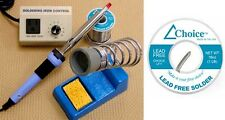 Great Value! Lead Free Solder Soldering Kit Includes Iron Rheostat Stand