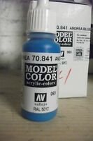 MODEL  HOBBY PAINT 17ml BOTTLE VAL841 	 AV Vallejo Model Color - Andrea Blue