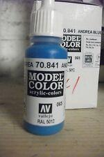 MODEL  HOBBY PAINT 17ml BOTTLE VAL841  AV Vallejo Model Color - Andrea Blue