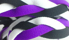 NEW! Purple Black White Grippy Band Headband Hair Sport Soccer Softball Stretchy