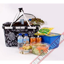 100% Genuine! D.LINE Shop & Go Insulated Cooler Carry Basket Black Camellia!