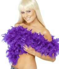20s 1920s Deluxe Feather Boa Purple Fancy Dress Hen Party 2 Yd New by Smiffys