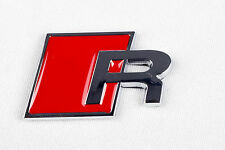 RED AUDI R Rear Badge LOGO EMBLEM A3 A4 S3 A6 A8 S4 S8 RS3 RS4 S3 S4 Line -AR1