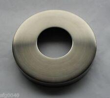 Edelstahl Abdeck rosette Ø 105 x 25 mm Loch für 42,4 mm Rohr V2A geschliffen VA