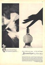 1964 Nina Ricci  PRINT AD Details two Love Perfume Vintage Bottles DOVE Decor