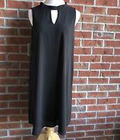 NWT She + Sky Black Choker Shift Dress - Juniors Size L