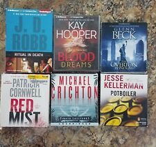 Thriller & Suspense Audiobook Lot POTBOILER THE OVERTON WINDOW RED MIST & MORE