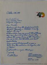 Bill Kline signed ALS,October 11, 1971,KTXL Channel 40.