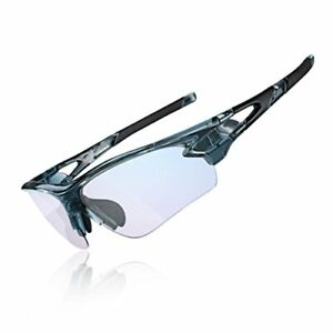 ROCKBROS Photochromic Cycling Glasses with 3 in 1 Intelligence Lenses for Men &