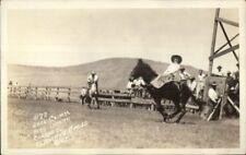 Klamath Falls OR Cowboy Rodeo 1929 Indian Congress Real Photo Postcard #2
