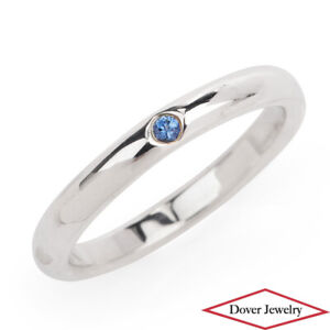 Tiffany & Co. Peretti Blue Sapphire Sterling Silver Stack Band Ring NR