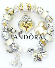 Authentic Pandora Bracelet Silver Disney Mickey Love Heart European Charms NIB